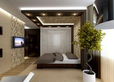 5 Simple and Impressive Ideas Can Change Your Life: Wooden False Ceiling Design false ceiling bedroom classic. Bedroom Pop Design, Luxury Bedroom Design, Bedroom Furniture Design, Home Room Design, Bed Design, Furniture Layout, Bedroom Ideas, Bedroom Decor, House Ceiling Design