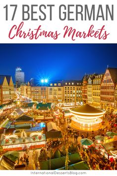 Best Christmas Markets in Germany - - Christmas markets are a holiday staple in Germany, and one of the best reasons to visit in December. Here are 17 you've got to see! Christmas Markets Germany, German Christmas Markets, Christmas Markets Europe, Christmas Travel, Christmas Vacation, Christmas Fun, Holiday Travel, White Christmas, Xmas