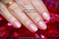 Gelish Light Elegant nails by FUNKY FINGERS FACTORY