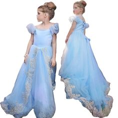 Hot !!! baby girl dress for summer Cinderella Princess party dresses for girls Christmas clothes Cinderella dovetail dresses