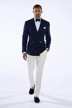 Gentleman Style Blue and White