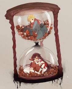 Tags: Clock, Pandora Hearts, Hourglass, Stuffed Rabbit, Adorably Cute, Gray Background
