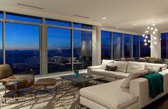 Vancouver Condo - contemporary - living room - vancouver - 2nd Century Rug Co.