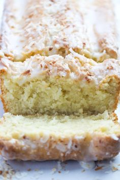 Loaf Cake If you love coconut then this cake is for you. It has a perfect coconut flavor, moist, and has a perfectly crisp crust.If you love coconut then this cake is for you. It has a perfect coconut flavor, moist, and has a perfectly crisp crust. Coconut Recipes, Baking Recipes, Cake Recipes, Dessert Recipes, Coconut Desserts, Loaf Recipes, Dessert Bread, Lemon Desserts, Food Cakes