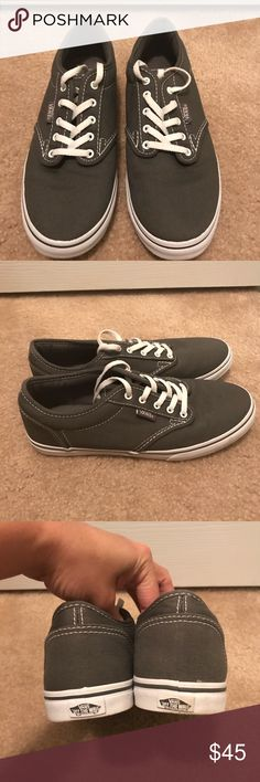 Vans Atwood Low Shoes These shoes are in excellent condition! They were worn maybe twice.  All the items are from a pet/smoke free home.  Absolutely no trades. Please don't ask! When you purchase more than likely it will ship out the following day. Vans Shoes Sneakers