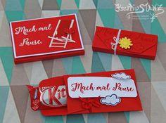 KreativStanz Stempelset Jahr voller Farben und Stanz- und Falzbrett für Geschenktüten Umschläge von Stampin' Up! Pause Kitkat #stampinup #make a break http://kreativstanz.bastelblogs.de/