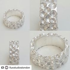@fluxstudioslondon takeover continues...#Repost @fluxstudioslondon with @repostapp  Inspired by meteors this ring is by another fresh talent at Flux Collective: Eve Deme. A textured surface as if pitted by meteoric showers could adorn your finger. Do come to Flux Collective's Open Studio on 3 and 4 December (open evenings on 1 and 2 from 6 to 8 as well). @zoeellenjewellery #meteor #texture #silver #openstudios2016 #vanguardcourt #camberwellarts