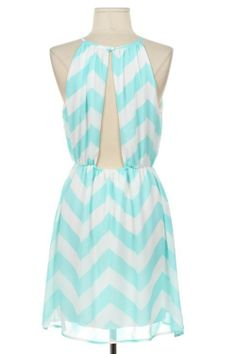 tinytulip.com - Mint Open Shoulder Chevron Dress  , $36.50 (http://www.tinytulip.com/mint-open-shoulder-chevron-dress)