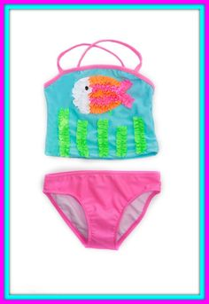 """""""Pin It' if you think this Love U Lots Two-Piece Caribbean Swim Suit for girls is adorable. Kids swimwear, little girls swimsuits, cute swimsuit for girls. http://www.simplyvelvet.com/Love-U-Lots-Two-Piece-Caribbean-Swim-Suit-p/lul22424.htm"""