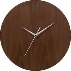 """Walnut 13"""" Wall Clock  