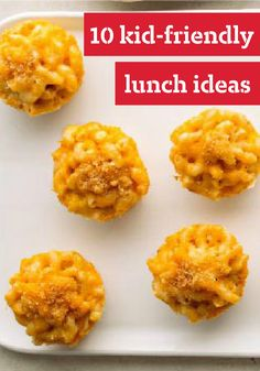 10 Kid-Friendly Lunch Ideas -- These family-friendly lunch recipes are sure to be favorited by your kids, making you the M.V.P.--Most Valuable Parent.