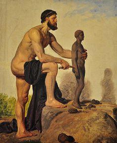 'Prometeo creando a un hombre de arcilla' (detalle), 1845