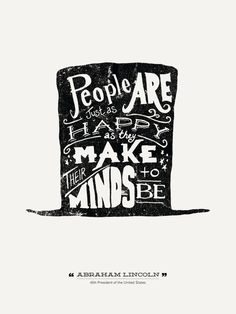Abraham Lincoln - Hand Lettered – Design Different