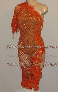 L760 women ballroom Ramba Latin /Rhythm Samba US 8 Dance Dress sexy