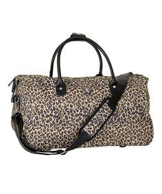 Love this Brown Leopard Hampton Duffel Bag by California Pak on #zulily, $22 !!  #zulilyfinds