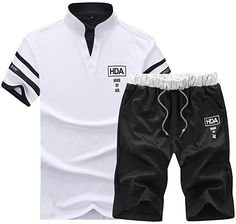 Bekleidung, Herren, Streetwear, Trainingsanzüge T Shirt Crop Top, T Shirt And Shorts, Polo Shirt, Casual Suit, Men Casual, Track Suit Men, Man Set, Streetwear, Mens Suits