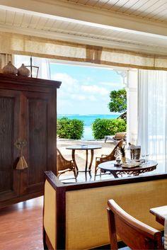 Ocean Suite, Beach Front At Heritage Le Telfair Golf & Spa resort #Mauritius