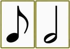 "Musik in der Grundschule: Tafelmaterial ""Die Notenwerte"""