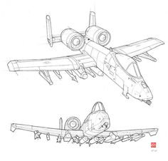 Thunderbolt WIP by randychen aircraft design - aircraft design drawing - aircraft design sketch Airplane Coloring Pages, Truck Coloring Pages, Airplane Drawing, Airplane Art, Bugs Bunny Drawing, A10 Warthog, Military Drawings, Sketch Tattoo Design, Air Fighter