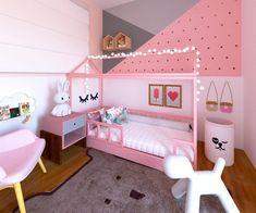 Cute Girls Bedrooms, Little Girl Bedrooms, Boy Girl Bedroom, Girl Bedroom Designs, Baby Bedroom, Girl Room, Kids Bedroom, Living Room Designs, Paris Room Decor
