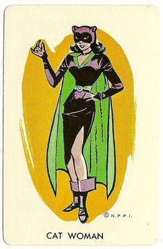 Catwoman from the Whitman Batman Card Game Batman Comic Art, Joker Art, Im Batman, Batman Comics, Batman Robin, Superman, Catwoman Cosplay, Batman Und Catwoman, Batgirl