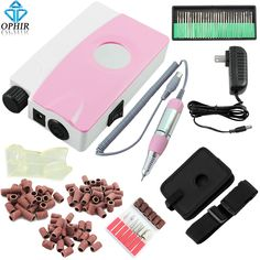 (87.99$)  Watch now  - OPHIR 35W Portable Rechargeable Electric Nail Drill Machine Manicure Kits Nail File Drill Bits Sanding Band Nail Art Equipment