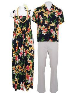 f47f1d718195 Julia Black Rayon Hawaiian Summer Maxi Dress Hawaiian Theme, Hawaiian  Outfits, Hawaiian Dresses,