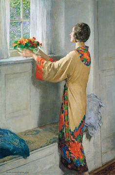 The paintings of beautiful women was the major subject of the British painter William Henry Margetson. He studied at the South Kensington Sc...