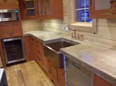 concrete countertops | Cast N Place Concrete Countertops - traditional - kitchen - birmingham ...
