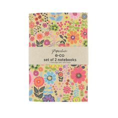 Recycled floral set of 2 notebooks. Paperchase.