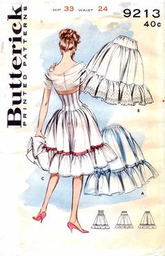 Butterick 9213: these petticoats are just stunning