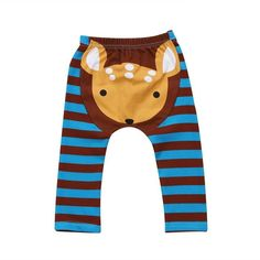 Oh My Deer Striped Leggings from kidspetite.com!  Adorable & affordable baby, toddler & kids clothing. Shop from one of the best providers of children apparel at Kids Petite. FREE Worldwide Shipping to over 230+ countries ✈️  www.kidspetite.com  #clothing #baby #infant #newborn #girl #leggings