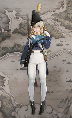 Cute Characters, Fantasy Characters, Female Characters, Anime Uniform, Female Character Design, Character Concept, Character Art, Anime Military, Military Girl