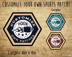 Custom Football Patches - Personalized Sport Patches