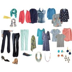 """Spring Capsule Wardrobe"" by christyscloset on Polyvore"