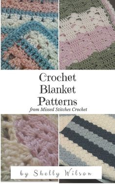 13 patterns of crochet blankets all in easy-to-follow instructions from Missed Stitches Crochet! Q: Why am I charging for something thats free on my site? A: Because on my site, each one is on an individual page and is full of other photos, ads, and unnecessary text. I took the time to put them altogether in one place for convenience in saving and printing. PLEASE NOTE! This file is a PDF type file. You need a PDF viewer to open it. You can get one FREE at https://get.adobe.com&...