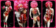 Bodypaintdesign Inspired by Rock DJ video - Robbie Williams  #bodypaint #anatomy #disco #bodypainting  Artist: Merel Wismeijet Model: Wendy Photo copyright: Face Fantasy BodyArt  Facefantasy.nl