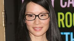If your face is square like Lucy Liu's, opt for slightly curved glasses to minimize the squareness for your face.