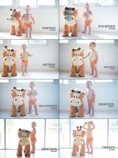 Month by Month Baby Photo Ideas I've only seen them for the first 12 months. I love the idea of the next 12 months too.