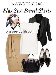 5 ways to wear a plus size pencil skirt this summer (5)