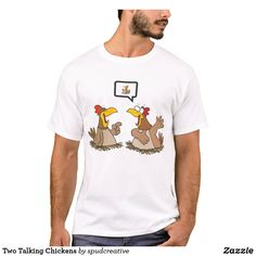 Two Talking Chickens T-Shirt Elephant Gifts, Fitness Models, Unisex, Casual, Mens Tops, T Shirt, How To Wear, Animals, Supreme T Shirt