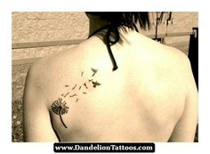 Pretty Dandelion Tattoo 16 - http://dandeliontattoos.com/pretty-dandelion-tattoo-16/