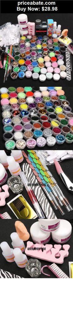 nails: 78 Nail Art Set Acrylic Liquid Glitter Powder File Brush Tips Tools DIY Kit Tool - BUY IT NOW ONLY $28.98