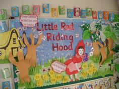 What a sweet Little Red Riding Hood display! #twinkl #classroom_display