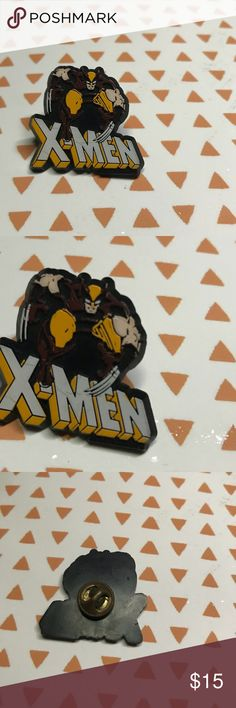 Vintage X-Men Wolverine Logo Pin You spin was originally given out as a promotional item in 1991. The pain has one or two scuffs on the word X-men, but beyond that is still in great condition! Marvel Accessories