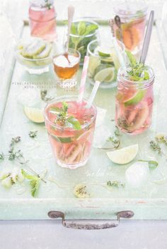 Pink passion fruit iced tea