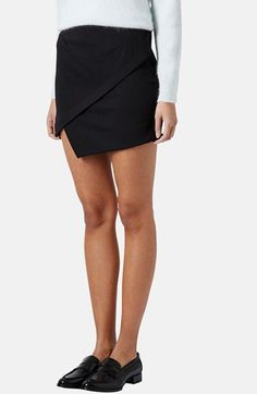 Topshop Asymmetrical Miniskirt available at #Nordstrom