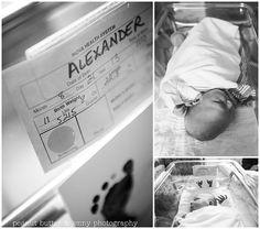 newborn photography - hospital room