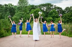 Bridesmaids I Nature of Design with Janet Flowers I Blue wedding