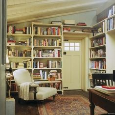 Library shelving / Hodgepodge House {vintage rustic modern library}